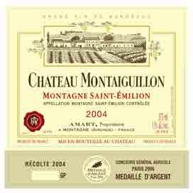 Étiquette Château Montaiguillon